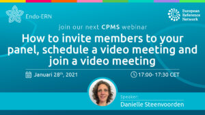 CPMS webinar: How to invite members to your panel, schedule a video meeting and join a video meeting